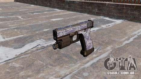 A Pistola Glock De 20 Blue Tiger para GTA 4 terceira tela