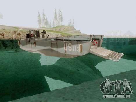 Landing Craft para GTA San Andreas vista direita
