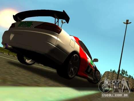 Nissan Silvia S15 Team Dragtimes para GTA San Andreas vista direita