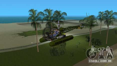 Bell 13H Sioux para GTA Vice City deixou vista