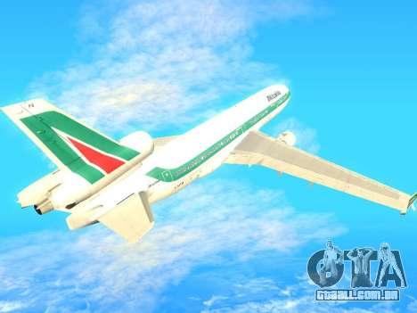 McDonnell Douglas MD-11 Alitalia para GTA San Andreas vista traseira