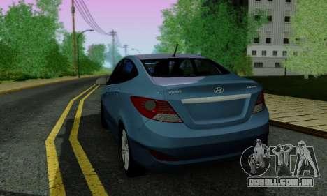 Hyndai Solaris para o motor de GTA San Andreas