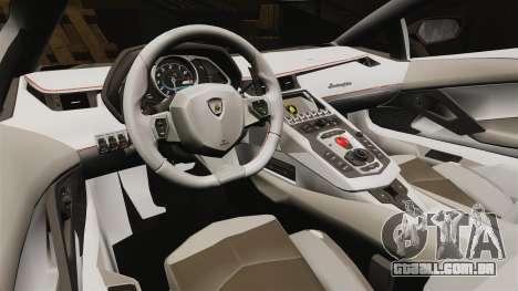 Lamborghini Aventador LP700-4 2012 [EPM] para GTA 4 vista interior