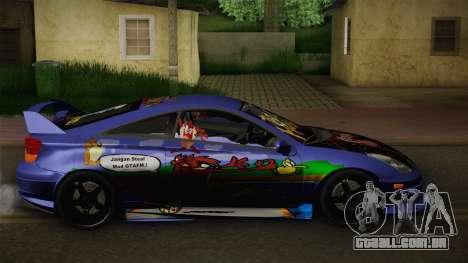 Toyota Celica Taz Mania Street Edition para GTA San Andreas esquerda vista