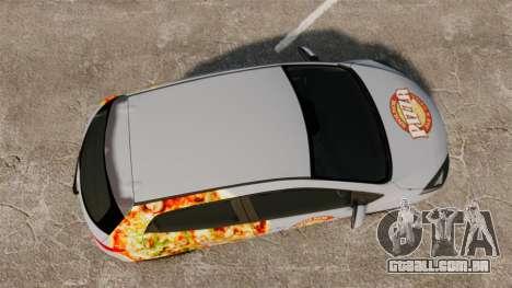 Mazda 2 Pizza Delivery 2011 para GTA 4 vista direita