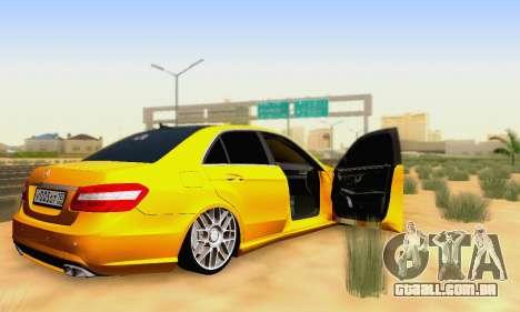 Mercedes-Benz E63 AMG para o motor de GTA San Andreas