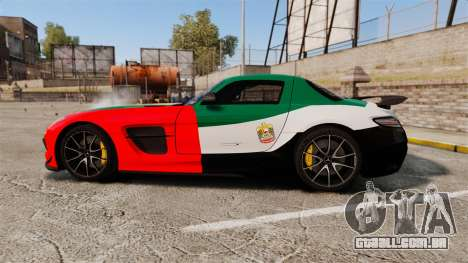 Mercedes-Benz SLS 2014 AMG UAE Theme para GTA 4 esquerda vista