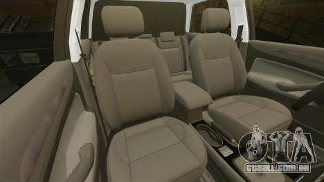 Ford Mondeo Hungarian Police [ELS] para GTA 4 vista inferior