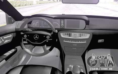 Mercedes-Benz CL65 AMG para GTA San Andreas vista traseira