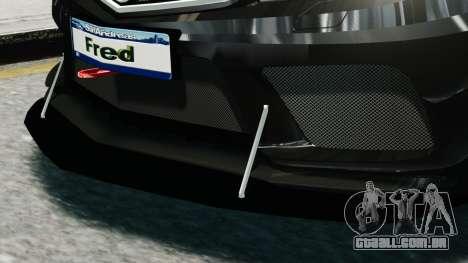 Mercedes-Benz C63 AMG Black Series 2012 para GTA 4 vista de volta