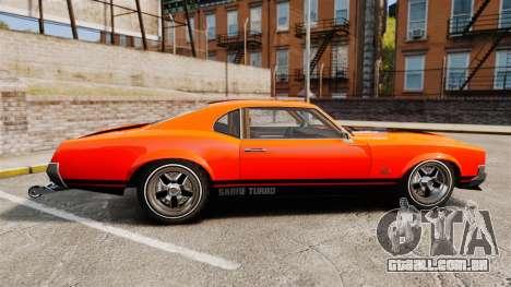 Declasse SabreGT new wheels para GTA 4 esquerda vista