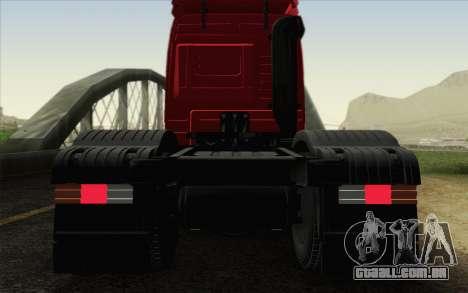 Mercedes-Benz Actros para GTA San Andreas vista superior