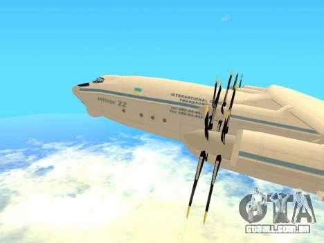 An-22 Antei para GTA San Andreas esquerda vista