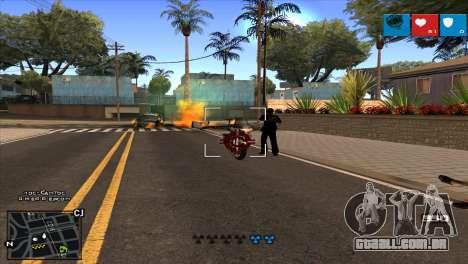 C-HUD Lumia GTA V para GTA San Andreas por diante tela
