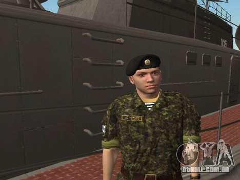 O Corpo de fuzileiros navais das forças armadas  para GTA San Andreas quinto tela