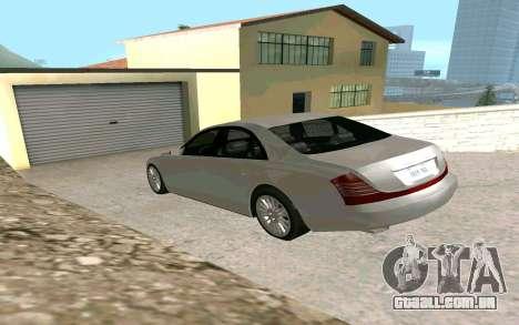 Maybach 57 TT Black Revel para GTA San Andreas esquerda vista
