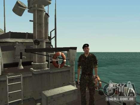 O Corpo de fuzileiros navais das forças armadas  para GTA San Andreas oitavo tela