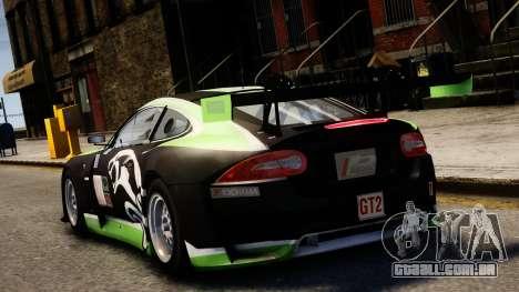 Jaguar XKR GT para GTA 4 traseira esquerda vista