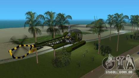 Bell 13H Sioux para GTA Vice City vista direita
