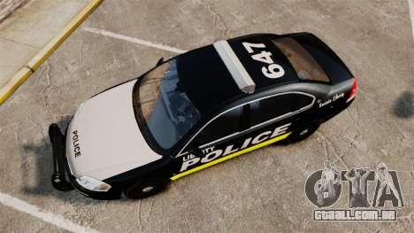 Chevrolet Impala 2008 LCPD [ELS] para GTA 4 vista direita
