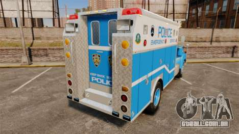 Mack R Bronx 1993 NYPD Emergency Service para GTA 4 traseira esquerda vista