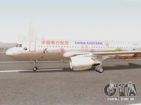 Airbus A320-211 China Eastern para GTA San Andreas esquerda vista