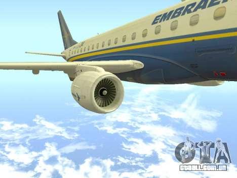 Embraer 175 HOUSE para GTA San Andreas vista direita