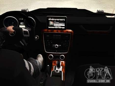 Mercedes-Benz G65 AMG 2013 para GTA San Andreas vista superior