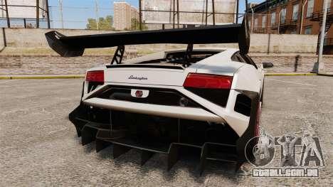 Lamborghini Gallardo LP570-4 Super Trofeo para GTA 4 traseira esquerda vista