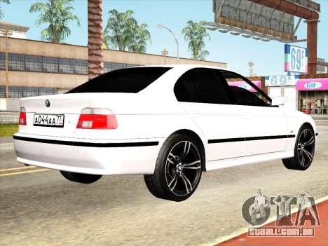 BMW 530d E39 para GTA San Andreas vista traseira