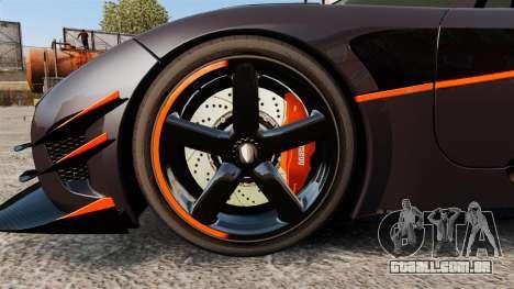 Koenigsegg One:1 para GTA 4 vista de volta