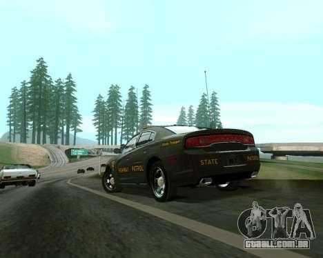 Dodge Charger 2012 SAHP para GTA San Andreas esquerda vista