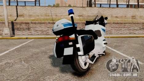 BMW R1150RT Police municipale [ELS] para GTA 4 traseira esquerda vista