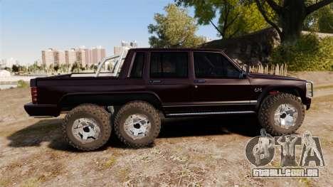 Jeep Carver 6X6 para GTA 4 esquerda vista