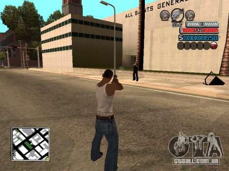 O novo C-HUD para GTA San Andreas segunda tela