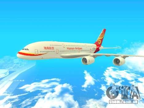 A380-800 Hainan Airlines para GTA San Andreas
