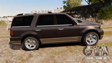 Dundreary Landstalker new wheels para GTA 4 esquerda vista