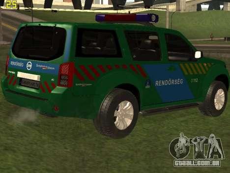 Nissan Pathfinder Police para o motor de GTA San Andreas