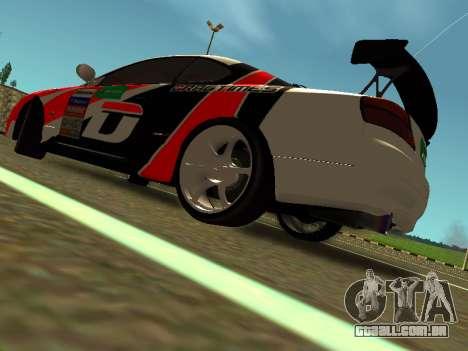 Nissan Silvia S15 Team Dragtimes para GTA San Andreas traseira esquerda vista