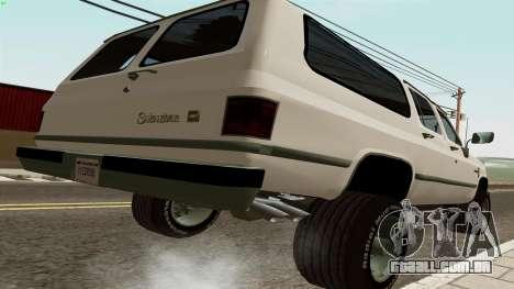 Chevrolet Suburban 2500 1986 para GTA San Andreas traseira esquerda vista