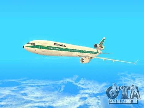 McDonnell Douglas MD-11 Alitalia para GTA San Andreas vista superior
