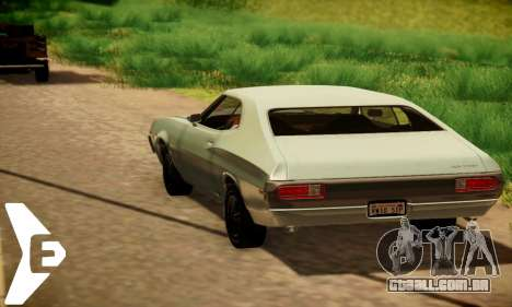 Ford Gran Torino De 1972 para GTA San Andreas vista traseira