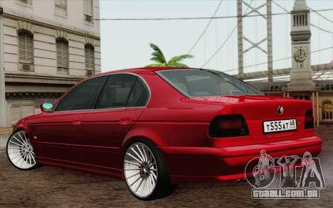 BMW M5 E39 2003 para GTA San Andreas vista direita