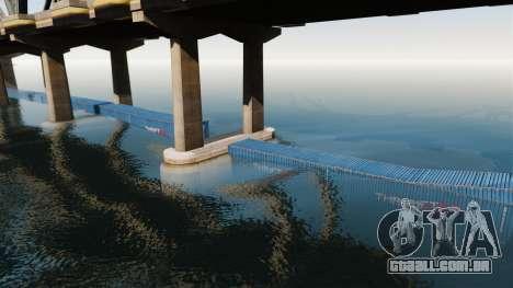 A estrada debaixo da ponte para GTA 4 por diante tela