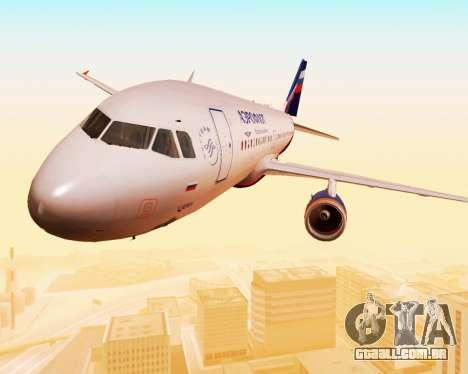 A Airbus A320-200 Tam Linhas Aereas para GTA San Andreas vista superior