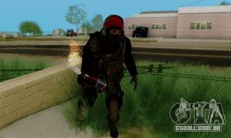 Kopassus Skin 1 para GTA San Andreas quinto tela