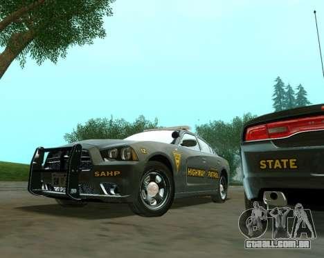 Dodge Charger 2012 SAHP para GTA San Andreas vista direita