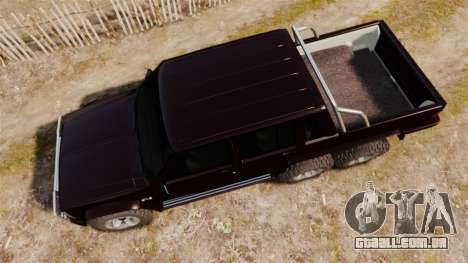 Jeep Carver 6X6 para GTA 4 vista direita
