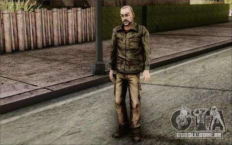 Pete from Walking Dead para GTA San Andreas terceira tela