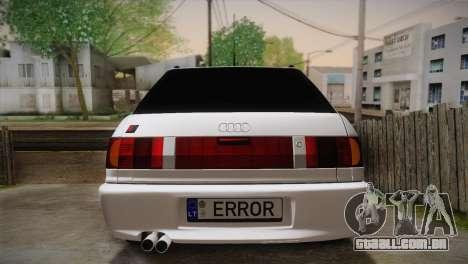 Audi RS2 Avant para GTA San Andreas vista interior